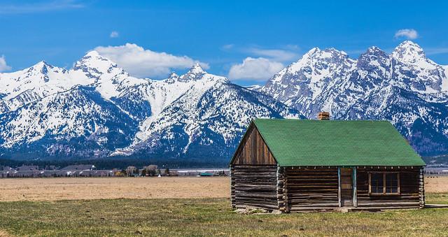 Mormon Barn and Tetons