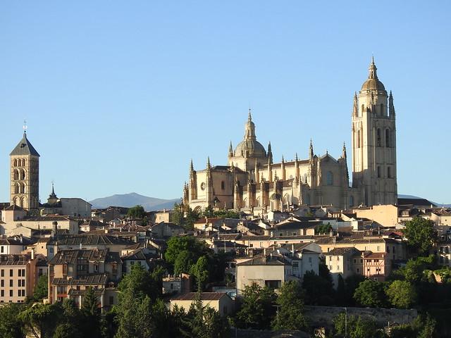 Imagen captada desde el globo con el que volamos en Segovia