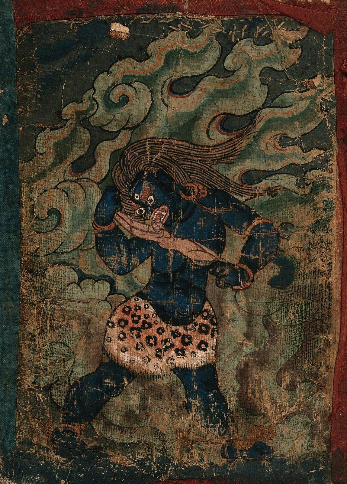 Tibetan Demon Painting  - 4