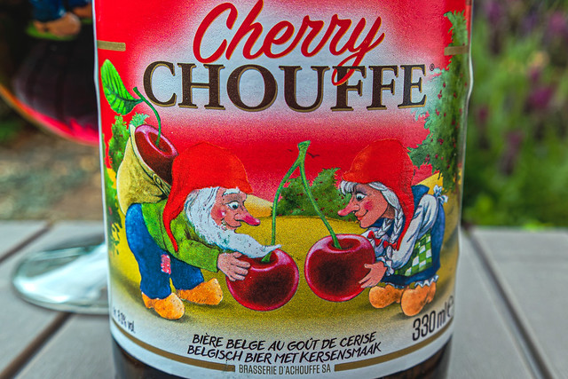 Close Up - Beer Bottle Label (Cherry Chouffe) (Panasonic Lumix TZ200)