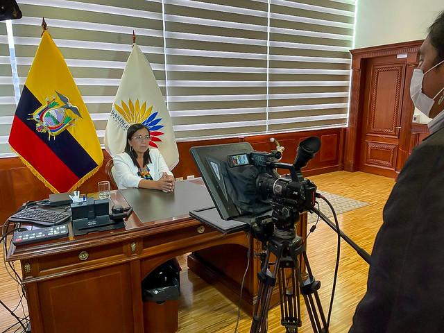 """PRESIDENTA DE LA ASAMBLEA NACIONAL, GUADALUPE LLORI, EN FORO DE MUJERES """"LIDERAZGO Y TRANSFORMACIÓN"""". ECUADOR, 10 DE JUNIO DEL 2021"""