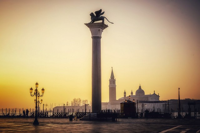 Early risers in St Mark's Sq