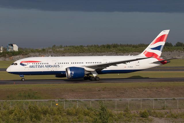 British Airways Boeing 787-8 Dreamliner G-ZBJE 210611 ARN