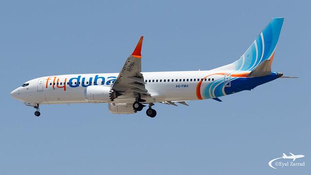 TLV - flydubai Boeing 737-8 MAX A6-FMA