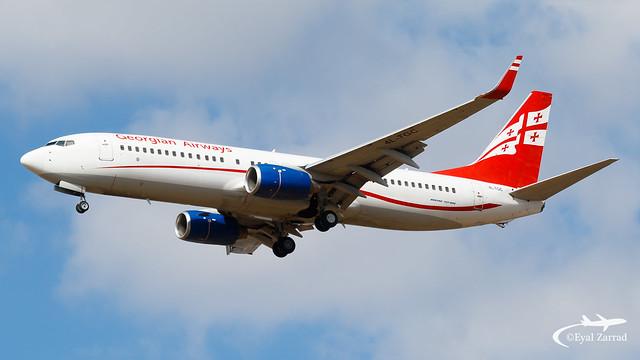 TLV - Georgian Airways Boeing 737-800 4L-TGC
