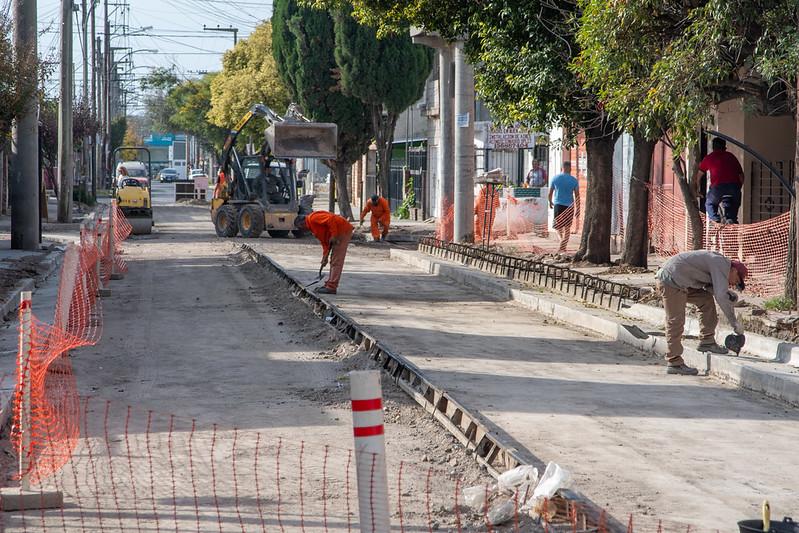 Repararon 200 metros de calzada en calle Congreso de Villa El Libertador