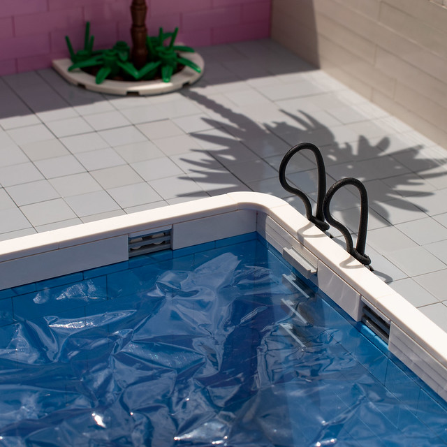 You'll dry in the sun - pool