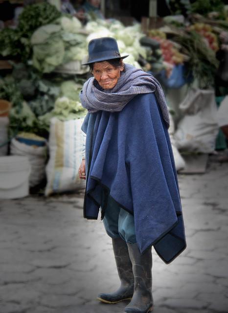 Streets of Otavalao, Ecuador.