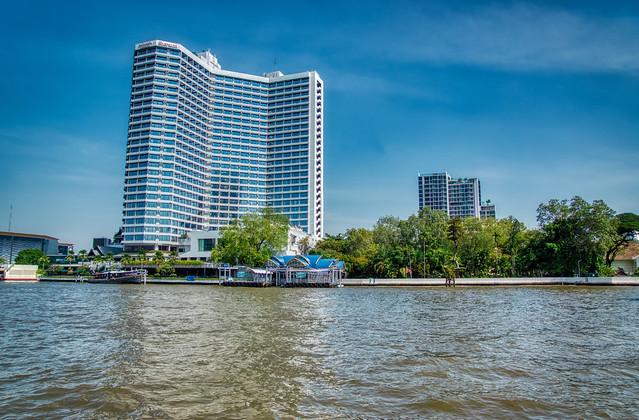 Royal Orchid Sheraton hotel by the Chao Phraya river in Bangkok, Thailand