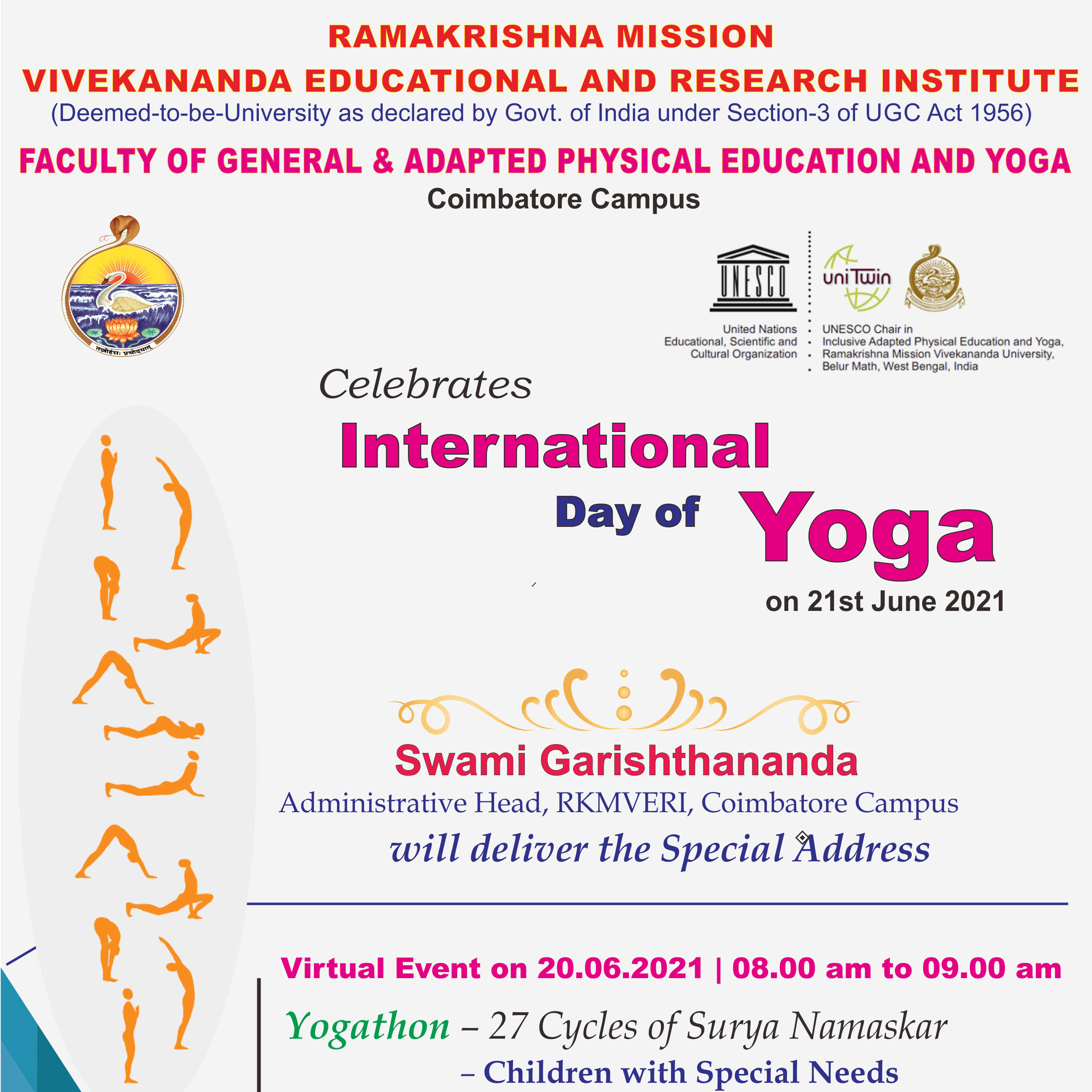 A VIRTUAL EVENT ON THE INTERNATIONAL DAY OF YOGA
