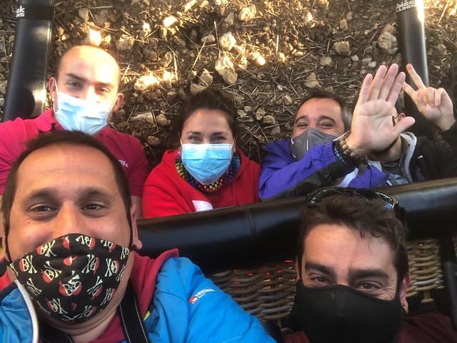 Tras el aparatoso aterrizaje en globo (Paseo en globo en Segovia)