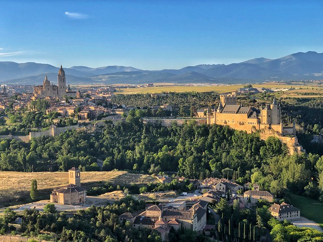 Panorámica de Segovia desde un globo