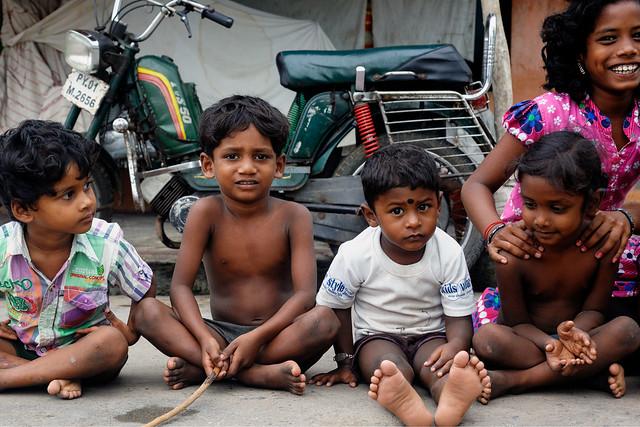 Street portrait of an Indian kids