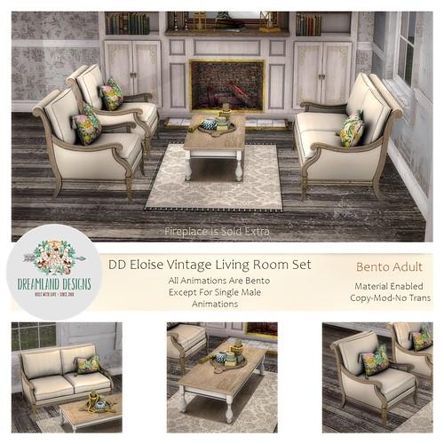 DD Eloise Vintage LivingRoom Set ADULT