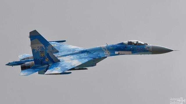 Ukrainian Air Force Su-27P1M Flanker 58