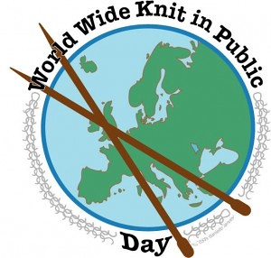 This Saturday, June 12th is Worldwide Knit in Public Day and we will once again host! However, this year has a maximum of 10 people outdoors at once.