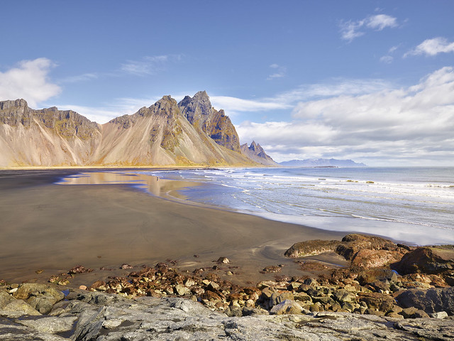 The photographer at Vestrahorn