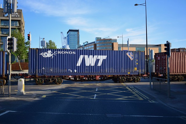 IWT Container at East Wall Road level crossing