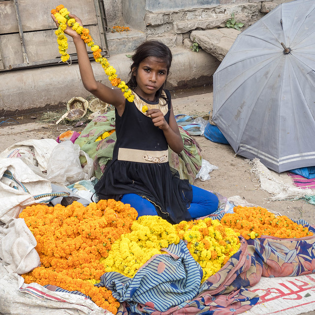 Flowers for Gods.. Streets of India...2017