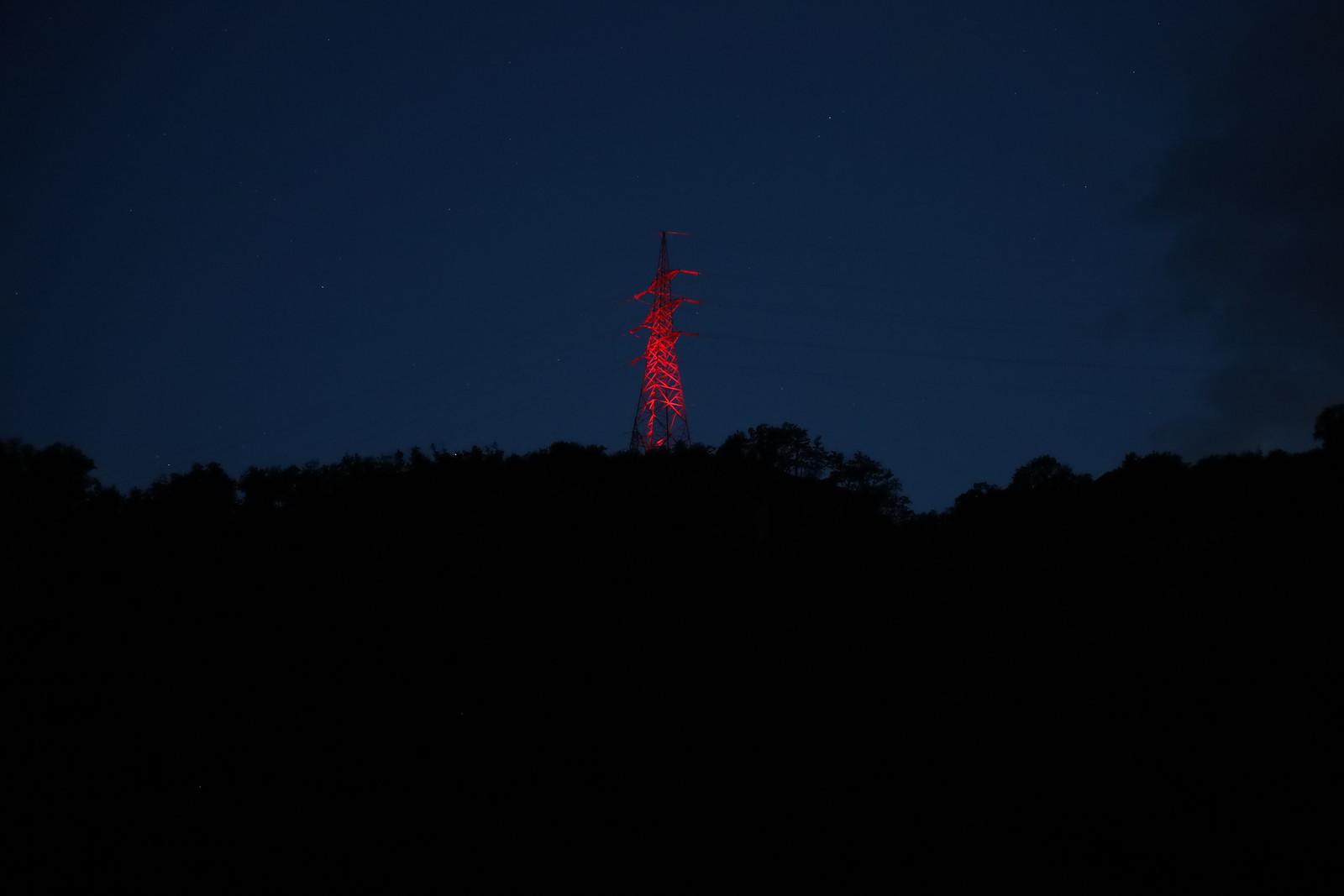 60 Jahre Feuernacht - Beleuchtung von Strommasten, 11.06.2021
