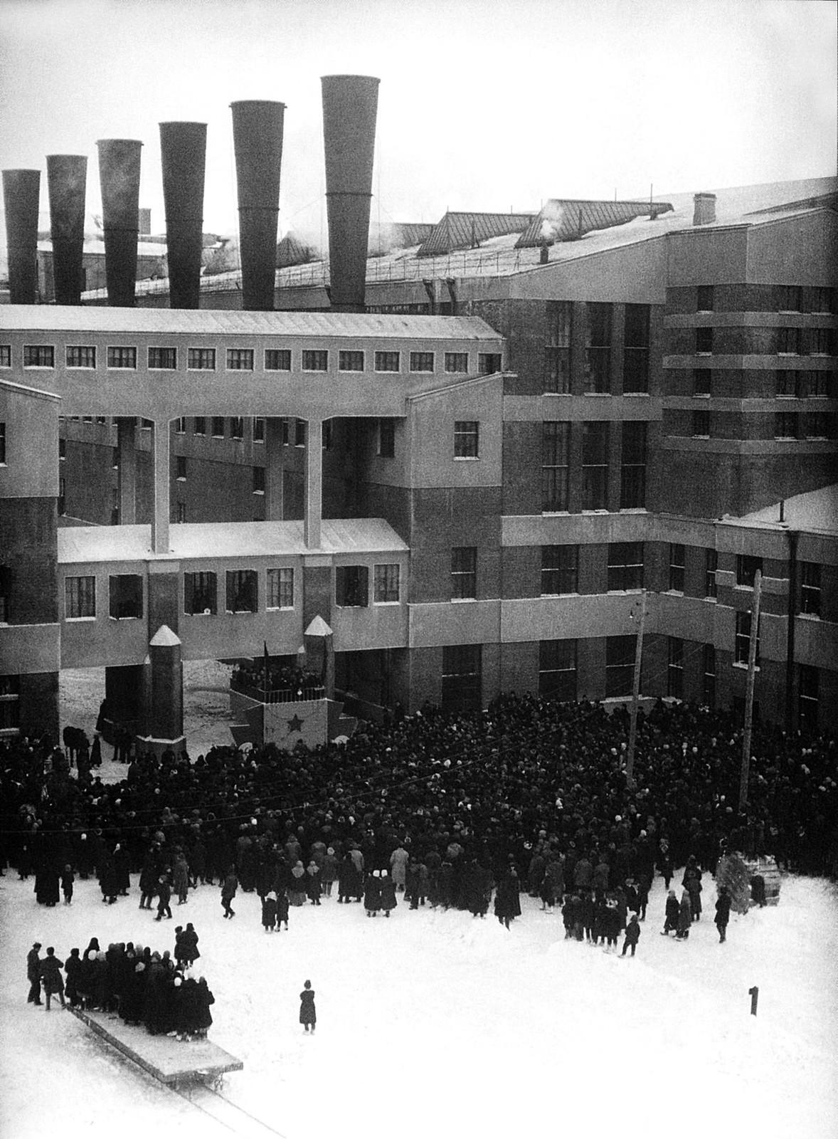 1925. Открытие Шатурской ГЭС, декабрь