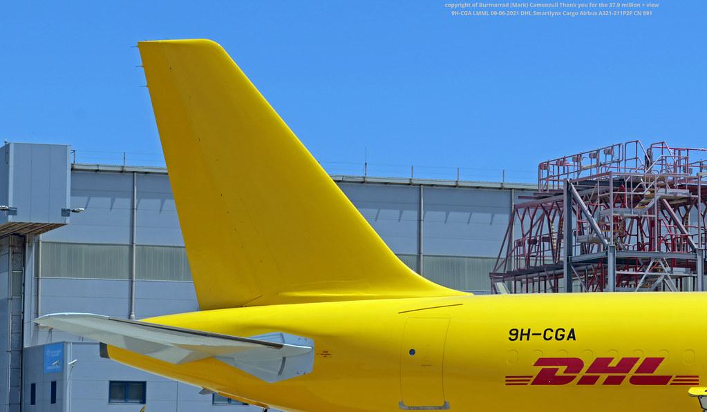 9H-CGA LMML 09-06-2021 DHL Smartlynx Cargo Airbus A321-211P2F CN 891