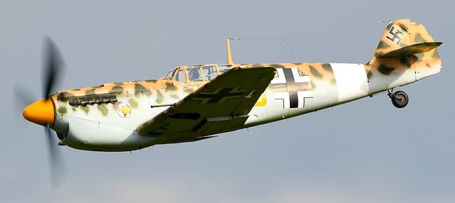Hispano HA-1112 M4L Buchon Yellow 10 G-AWHK