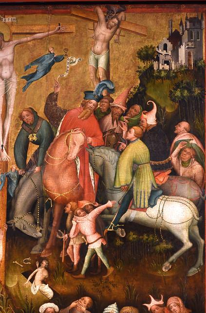 Warendorf , Westfalen, Laurentiuskirche, altar, center panel, crucifixion, details