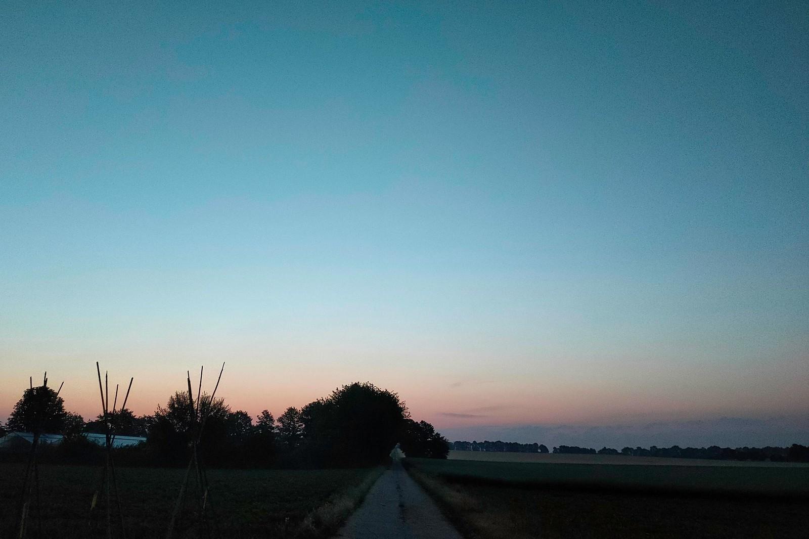Blaue Stunde bei Selzen im Selztal