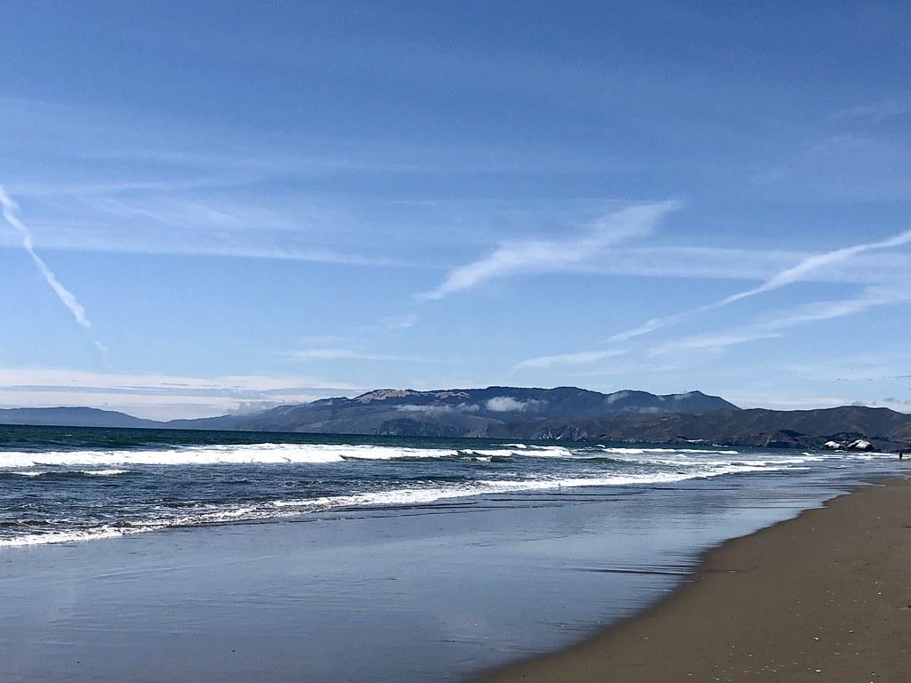 This afternoon at San Francisco's Ocean Beach