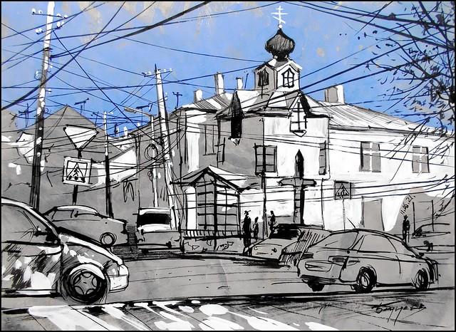 SAINT LUKA'S HOUSE IN SIMFEROPOL (EN-PLEIN-AIR SKETCH)