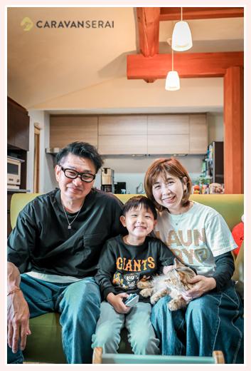 ご自宅で家族写真