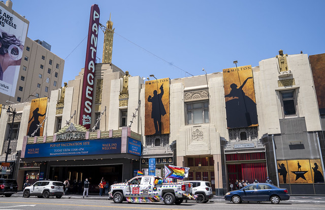 Pop-Up Vaccination Site at Hollywood Pantages Theatre