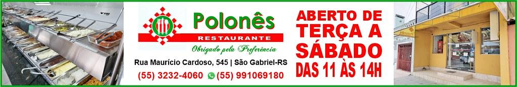 Polonês Restaurante, agora aberto aos sábados em São Gabriel