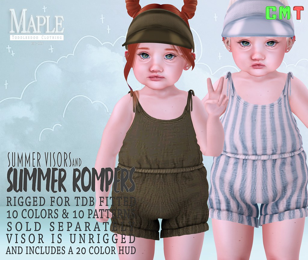 Summer Rompers & Visors ♥