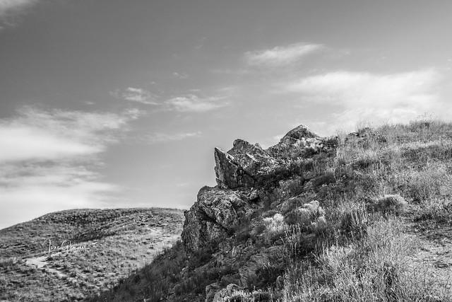 Rock Outcrop in B&W