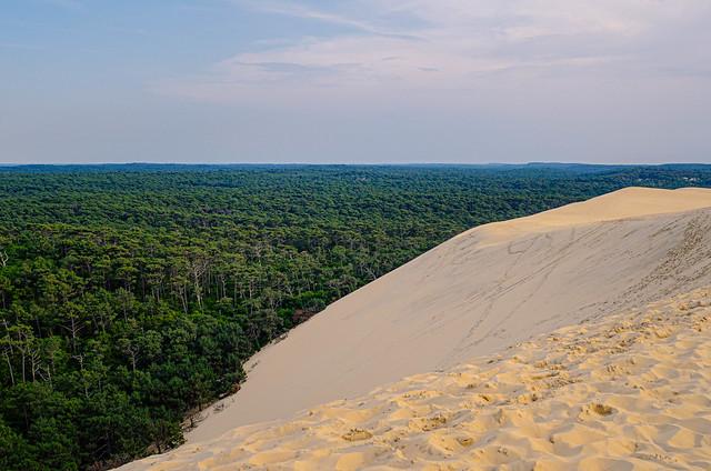 The serene and infinite ocean at Arcachon, France, Dune of Pilat (Dune du Pyla) - the tallest sand dune in Europe, Arcachon Bay, Aquitaine, France, Atlantic Ocean