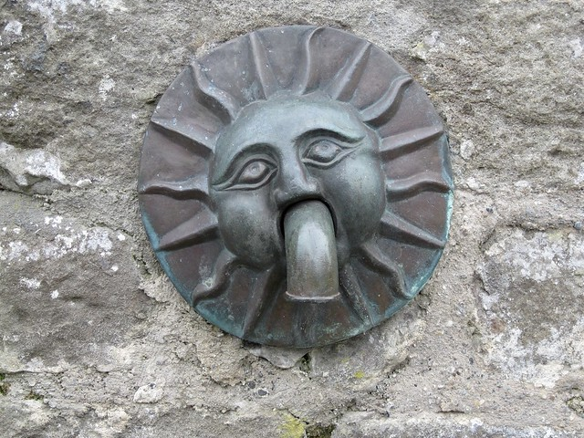 One of the spouts on the well of Kirkcudbright Tolbooth. Built between 1627 and 1629.