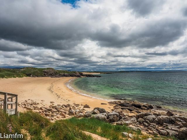 Overlooking Glassagh beach