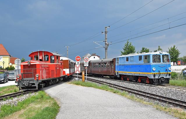 Parallelausfahrt 2091.11 und  V10 (2095.10