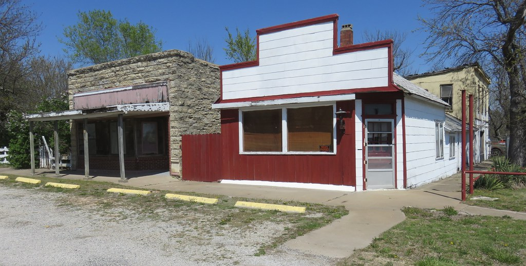 Old Storefront Buildings (Beaumont, Kansas)