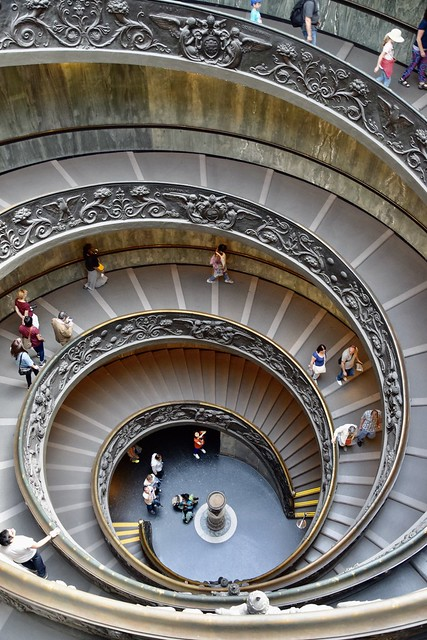 Bramante Staircase - Vatican City, Rome 2015