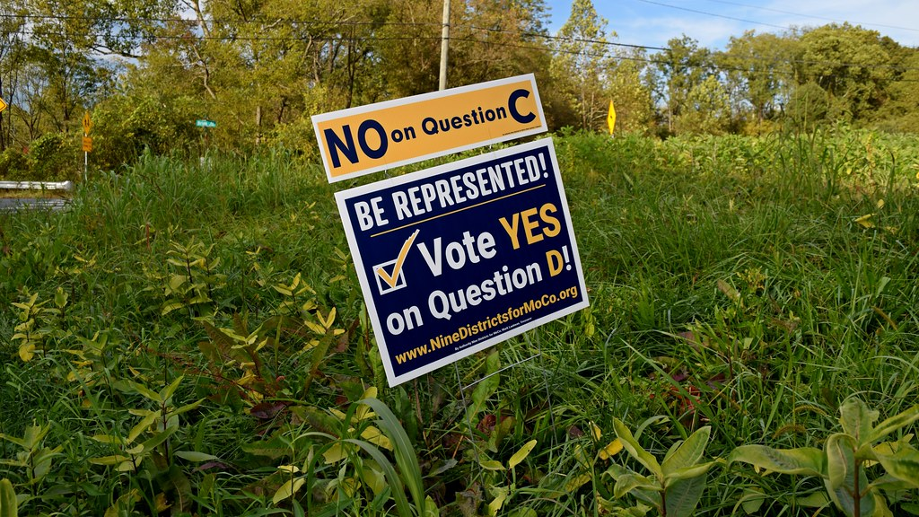 Political sign about ballot questions