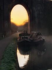 Canal Boats at Dawn