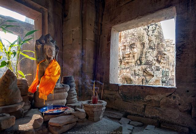 Bayon shrine, Angkor, Cambodia
