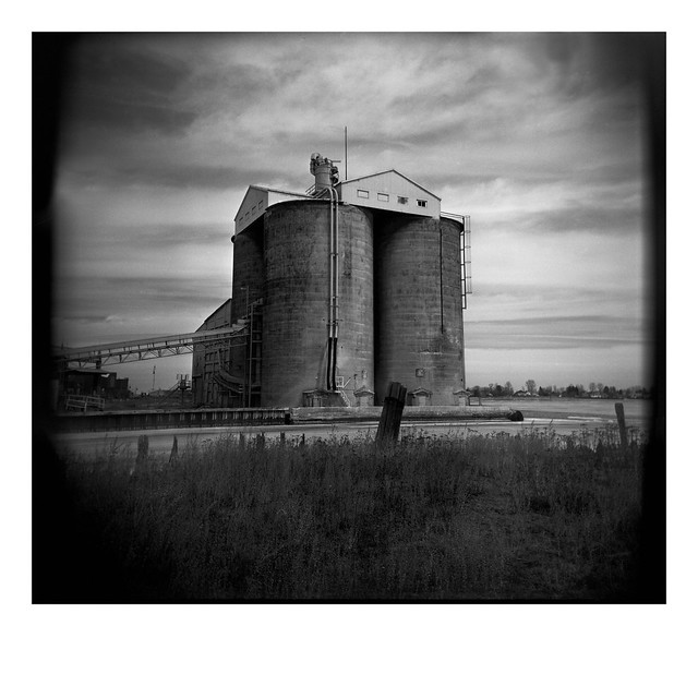 Cement silos at waterfront