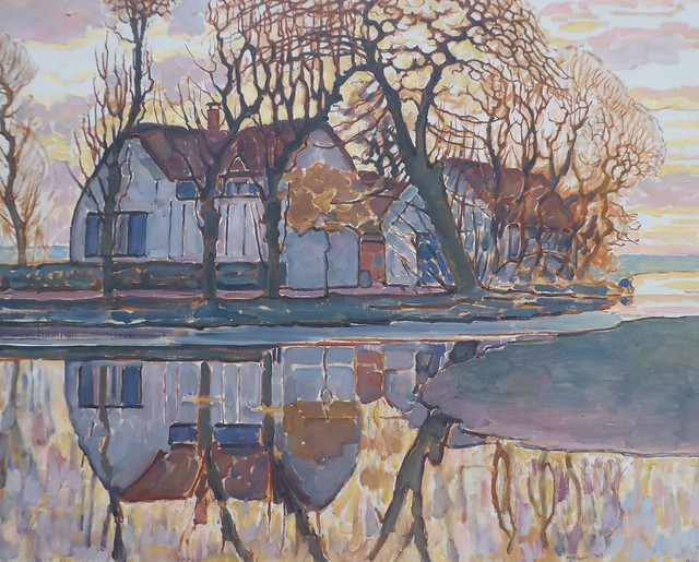 Chicago, Art Institute, Modern Wing, Farm near Duivendrecht, 1916 (Artist: Piet Mondrian)