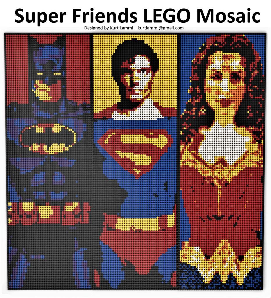 Super Friends Mosaic