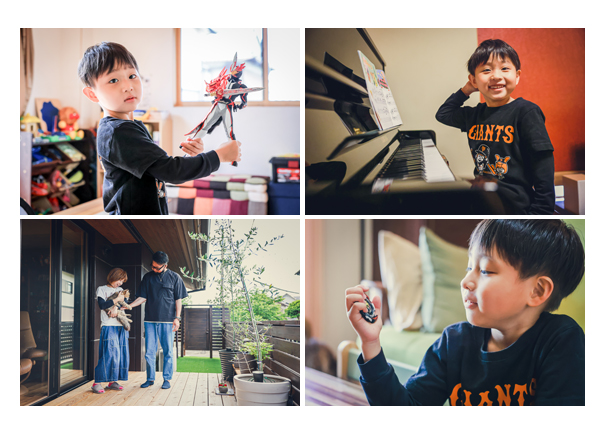 ご自宅へ出張撮影 仮面ライダーのフィギュア ピアノ