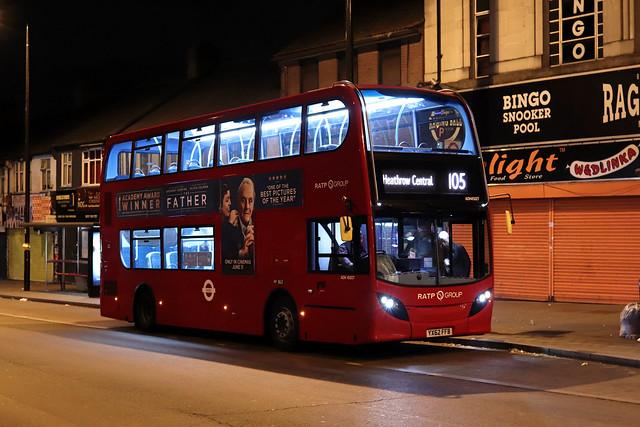 Route 105, London United, ADH45027, YX62FFB